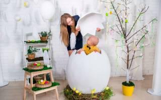 Пасхальное яйцо своими руками при помощи папье-маше и лент