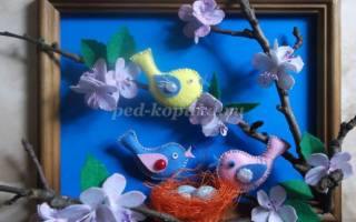 Картина из фетра своими руками: цветочные композиции с выкройками