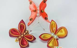 Бабочка из лент своими руками: осваиваем технику канзаши