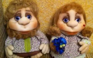 Мастер-класс по куклам из капрона для украшения дома или подарка