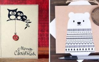 Новогодние открытки своими руками: решения на любой случай