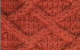 Узор «зигзаг» спицами: цветные и рельефные варианты