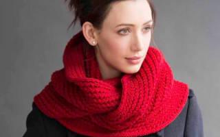 Схемы вязания снуда-капюшона спицами для женщин
