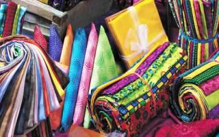 Виды ткани с названиями и фото выполненных изделий