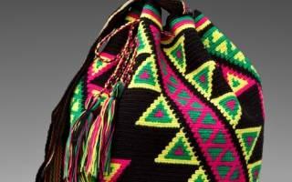 Колумбийская мочила: схемы для создания яркой и стильной сумочки для модниц