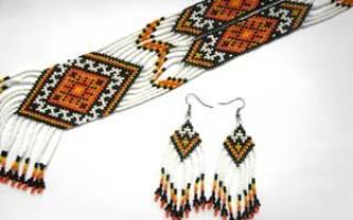 Гердан из бисера со схемами: делаем украшение в этно-стиле