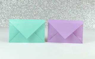 Конверт оригами: оригинально поздравляем друзей и родных