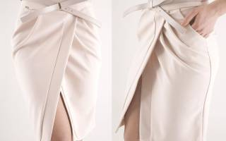 Выкройка юбки с запахом: универсальная вещь для женского гардероба