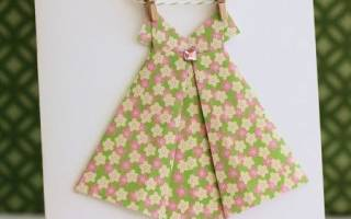 Оригами-платья из бумаги со схемами и примерами
