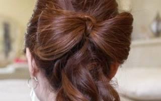 Бант для волос: учимся красиво завязывать аксессуар для создания прически