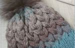 Коса из 12 петель спицами: вяжем зимнюю шапочку