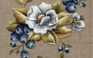 Вышивка гладью для начинающих с пошаговыми фото: орнаменты, буквы и цветы