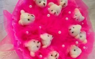Букет из мишек тедди своими руками для детей