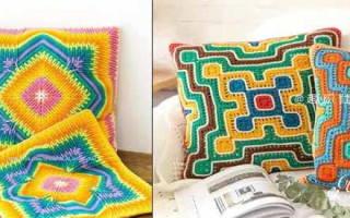 Наволочка на подушку крючком: изучаем красивые узоры