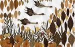 Аппликация и поделки из сухих листьев: проводим время с малышом весело