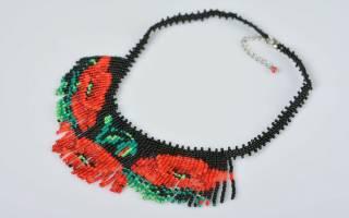 Ожерелье из бисера своими руками: творчество в украшении