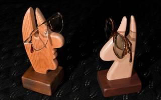 Подставка для очков своими руками из дерева, бумаги и глины
