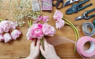 Букет в коробке: мастер-класс для начинающих флористов