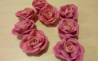 Мастер-класс по розам из фоамирана: искусственная красота быстро и просто