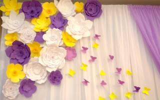 Большие бумажные цветы для украшения интерьера