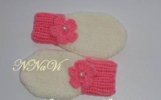Варежки для новорожденного для поддержания тепла ручек малыша