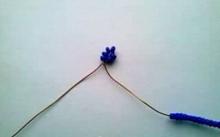 Фиалка из бисера как альтернатива живому цветку