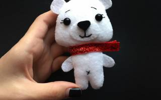 Мишка из фетра своими руками: шьем милый сувенир
