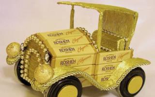 Автомобиль из конфет: мастер-класс для сладкоежек