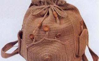 Рюкзак крючком: схема и описание процесса для новичков