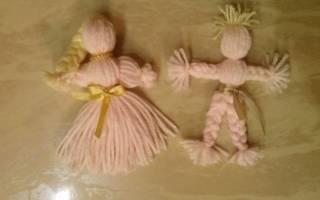 Как сделать куклу из ниток для оригинального подарка близким