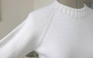 Бесшовный реглан спицами: вязание от простого к сложному