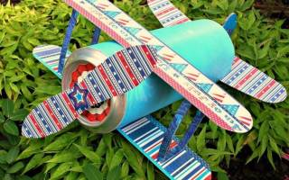 Самолет своими руками из подручных материалов для детей и взрослых