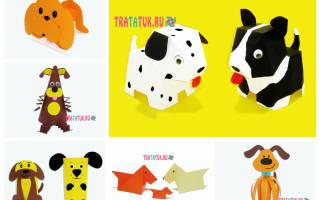 Простые поделки из бумаги для детей своими руками: делаем собачку и куриное семейство