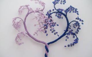Как сделать дерево из бисера своими руками: поделка для нежной и долгой любви