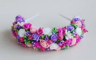 Ободки из цветов своими руками: красивые украшения для прически