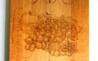 Рисунки для выжигания на разделочной доске: изюминка для кухонных принадлежностей