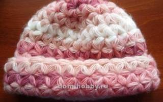 Узор «звездочки» крючком: оригинальное украшение шапок и свитеров