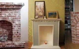 Фальш-камин из картона: строим по подробному описанию