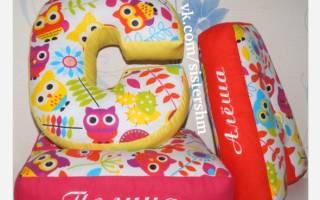 Мягкие буквы своими руками: украшаем комнату оригинальными игрушками