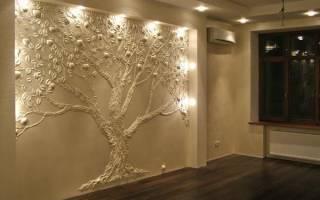 Панно из гипса на стену своими руками: праздничное украшение для дома