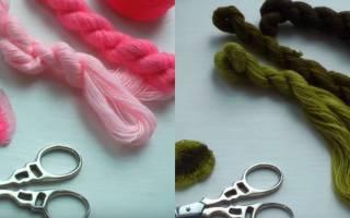 Объемная вышивка для начинающих: цветы для уютной гостиной