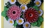 Квиллинг картины: мастер-класс с пошаговым фото красоты цветов и времен года