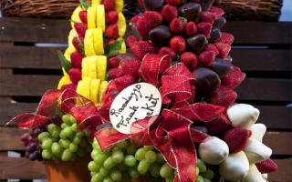 Топиарии из фруктов: разнообразие идей для творчества