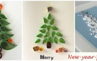 Квиллинг елка: мастер-класс по символу нового года из бумажного кружева
