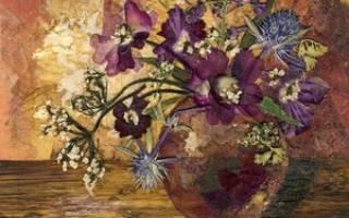 Мастер-класс по ошибане: картины и пейзажи из растений