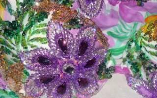Схемы вышивки пайетками: «блестящие» изделия на любой вкус