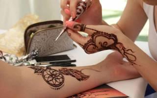 Роспись хной на руках в домашних условиях: идеи для временного тату