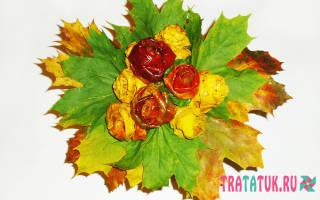 Роза из кленовых листьев своими руками: оригинально и красиво