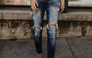 Как сделать дырки на джинсах в домашних условиях: модный маст-хэв своими руками