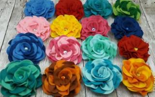 Цветы из фетра своими руками: мастер-класс с фото